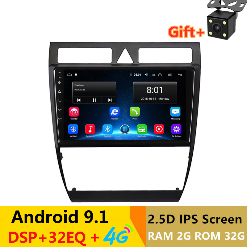 9 2G RAM Android GPS Navigation car Radio for Audi A6 S6 RS6 1997 -2002 2004 -2008 GPS audio stereo headunit 4G image