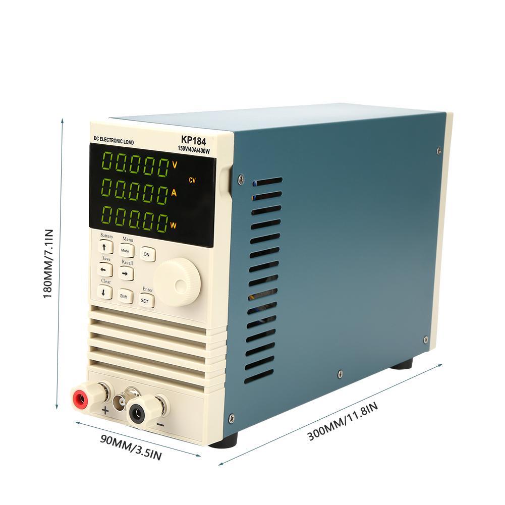 Kp184 dc testador de capacidade da bateria de carga eletrônica rs485/232 400 w 150 v 40a ac110/220 v testadores de carga profissional do verificador da bateria