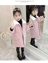New winter Korean style loosen sweet big girls velvet woolen jacket outerwear for