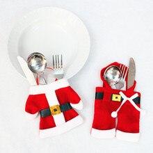Santa Claus Clothes Pants Cutlery Set Bag Large Knife And Fork Bag