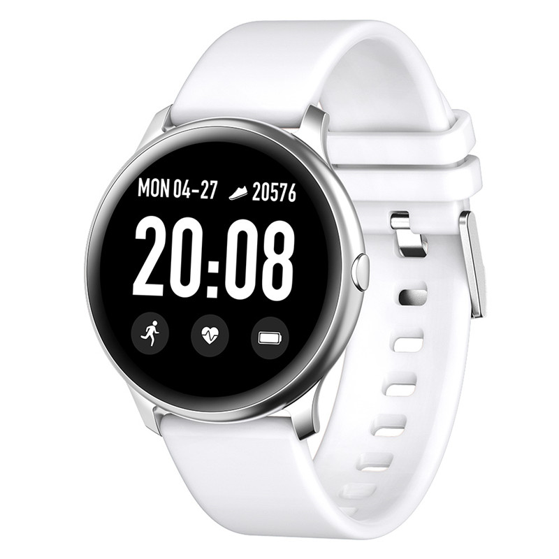 <font><b>KW19</b></font> IP67 <font><b>Women</b></font> <font><b>Smart</b></font> <font><b>watch</b></font> Waterproof Blood oxygen Heart rate monitor Men sport smartwatch for IOS and Android phone image