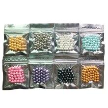 Bolas de azúcar de perlas comestibles de 7mm, pequeñas cuentas de colores, pastel, Fondant, bricolaje, decoración de silicona para hornear, Chocolate, dulces de azúcar, bricolaje, 10g