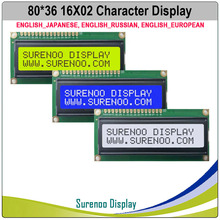 1602 162 16X2 16*2 English Japanese Russian European Character LCD Module Display Screen Panel LCM Yellow Green Blue White