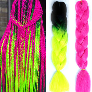 MUMUPI kanekalon braiding synthetic box hair Jumbo Braids Synthetic Hair Crochet Hair Extensions for African afro bulk