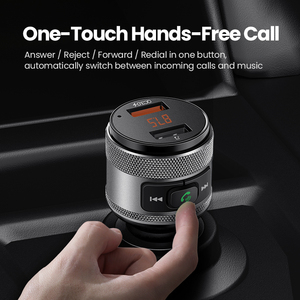 Image 4 - UGREEN USB chargeur de voiture FM transmetteur rapide 3.0 Charge chargeur rapide pour Xiaomi Samsung iPhone Huawei QC3.0 chargeur de voiture