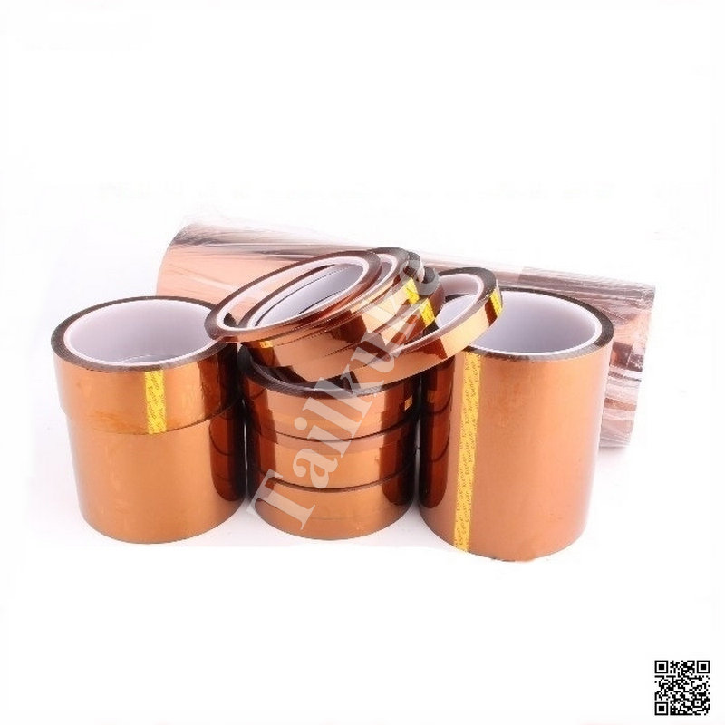 Kapton Film Polyimide Copper High Temperature Adhesive Tape For Electronic Industry Length 30M , Width 3mm-25mm