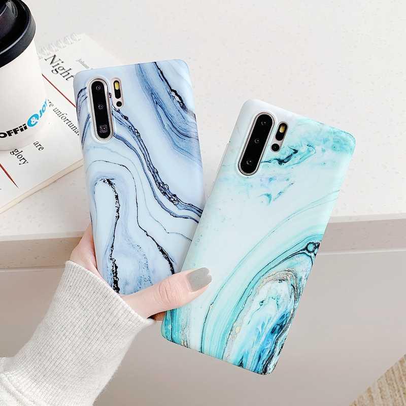 สำหรับ Huawei Honor 8 8A 8X MAX 9 ดู 10 10i 20 20S 20i Lite Pro V20 Bling Glitter ฟอยล์หินอ่อนนุ่มซิลิโคน TPU ฝาครอบโทรศัพท์
