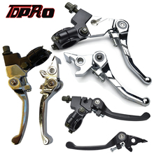 TDPRO Pair Front Folding Brake Clutch Lever For 7/8 22mm Motorcycle Handlebar Fit Honda XR50 CRF50 50cc to 125cc Dirt Pit Bikes