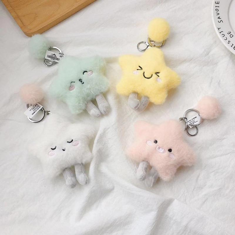 Ant Kawaii Keychain Bt21-bts Little Twin Stars Keychain Plush Chimmy  Mini Keychain Cute Girl Plush Stars Plush Chain