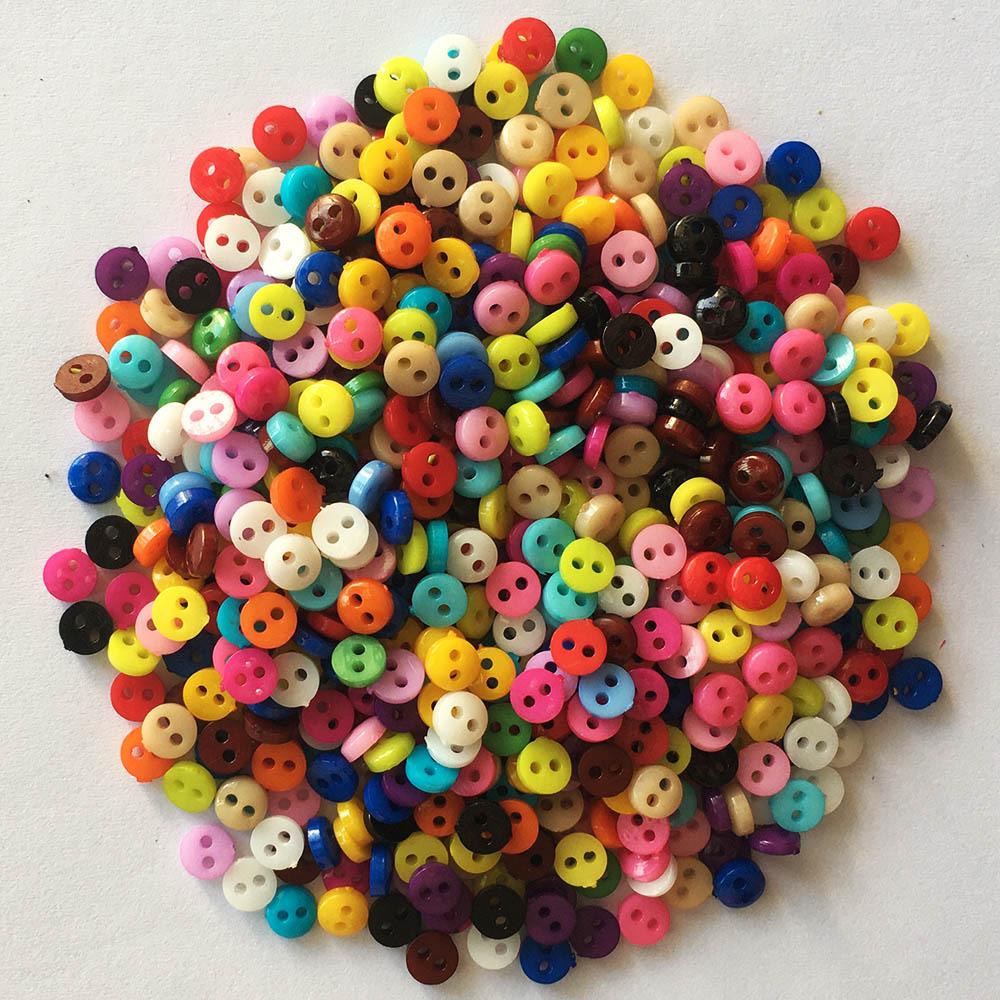 Горячая Распродажа 6 мм 9 мм 11 мм 12 мм декоративные пуговицы для рукоделия пластиковые пуговицы для кукол Скрапбукинг пуговиц для шитья с 2 от...