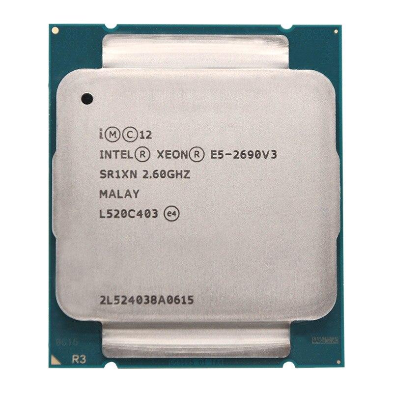Intel Xeon E5 2690 V3 E5 2690V3 E5-2690V3 Processor 2.6Ghz 12 Core 30MB Socket LGA 2011-3 CPU Suitable X99 motherboard