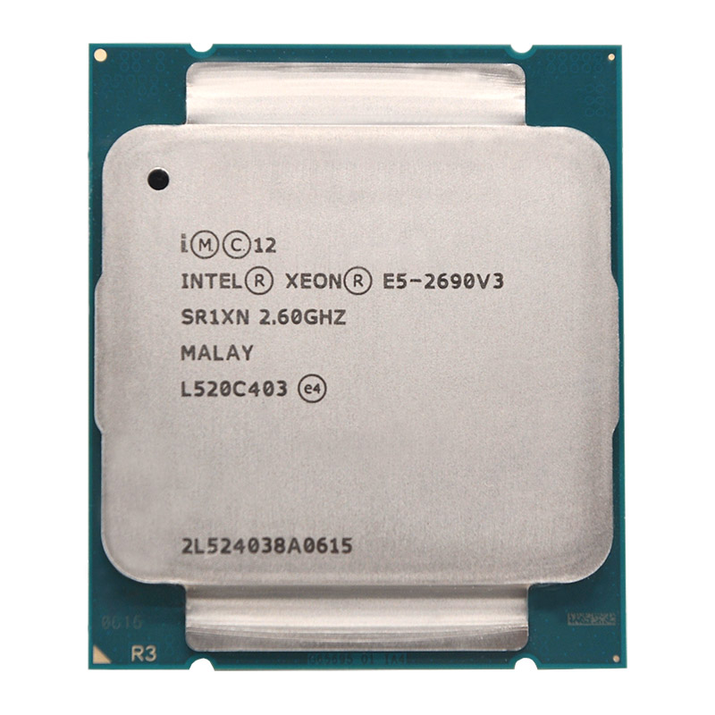 Intel Xeon E5 2690 V3 E5 2690V3 E5-2690V3 Processor 2.6Ghz 12 Core 30MB Socket LGA 2011-3 CPU Suitable X99 motherboard image