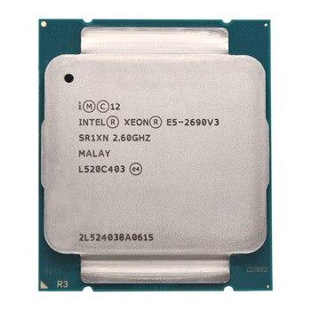 Intel Xeon E5 2690 V3 E5 2690V3 PROCESADOR DE E5-2690V3 2,6 Ghz 12 Core 30MB Socket LGA 2011-3 CPU, adecuado para placa base X99