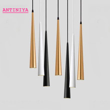 Dimmable COB Cone LED Modern pendant light Aluminum&metal home 7W 9W 12W 15W hang lamp living room bar cafe droplight fixture