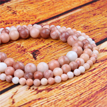 Fandongling Natural Stone Bead Round Loose Spaced Beads 15 Inch Strand 4/6/8/10/12mm For Jewelry Making DIY Bracelet
