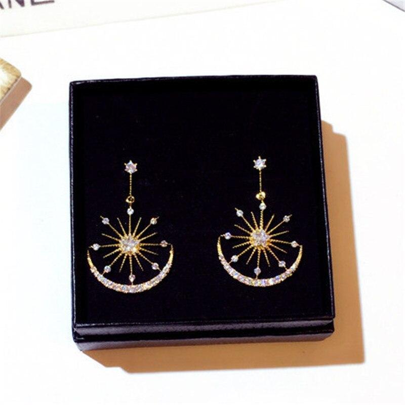 Popular New Fashion Temperament Sun Star Moon Earrings Female 2021 Japan and South Korea Sweet Temperament Accessories