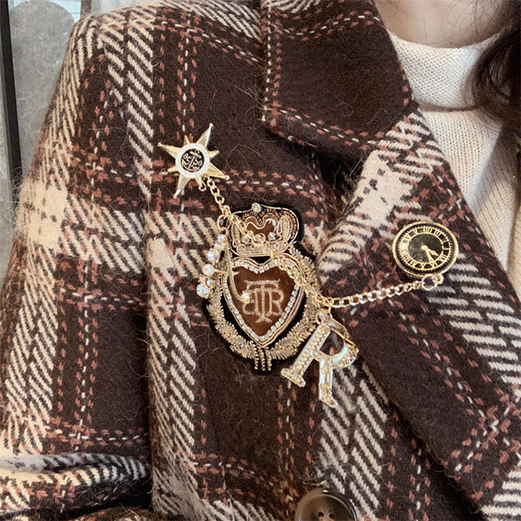 2020 Plaid Slim High Waist Handsome Small Suit Temperament Notched  Winter Clothes Women Suit Jackets Coat Women