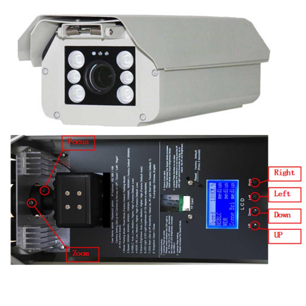 Imporx 2MP HD 1080P 6-22 Mm Lensa ANPR Kendaraan Plat Nomor Pengakuan LPR Ip Kamera Outdoor untuk Tempat Parkir dengan IR LED