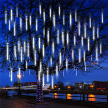 50cm 384 led chuva chuva chuva chuva queda gota icicle luz da corda para árvore de natal decoração do casamento do feriado