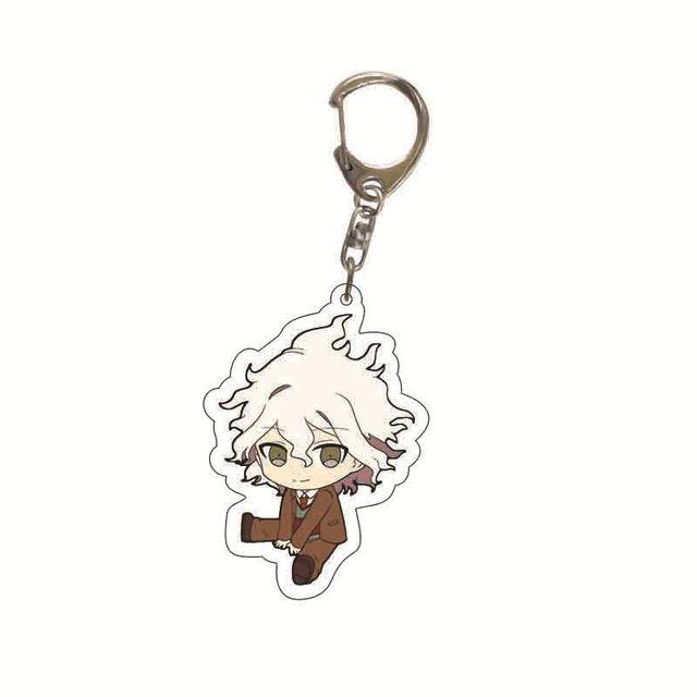 Danganronpa Double Sided Acrylic Keychain Fans Collection Anime Game Figures Nanami ChiaKi Nagito Komaeda Key Chain Cute Trinket 2