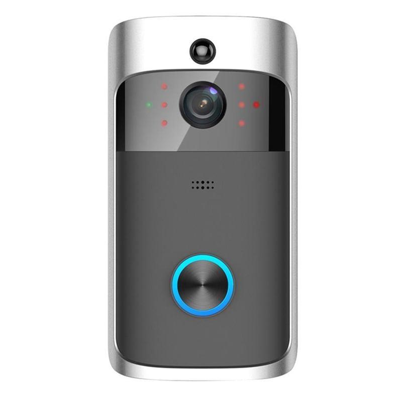 ABKT-Smart Wifi Doorbell Wireless HD Video Camera Ring Motion Detection Silver