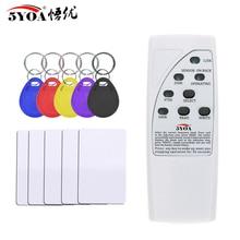 Ручной Rfid считыватель карт, записывающее устройство 125 кГц, копировальный аппарат, Дубликатор ID тегов, программатор со световым индикатором EM4305 T5577, брелок карточка для ключей