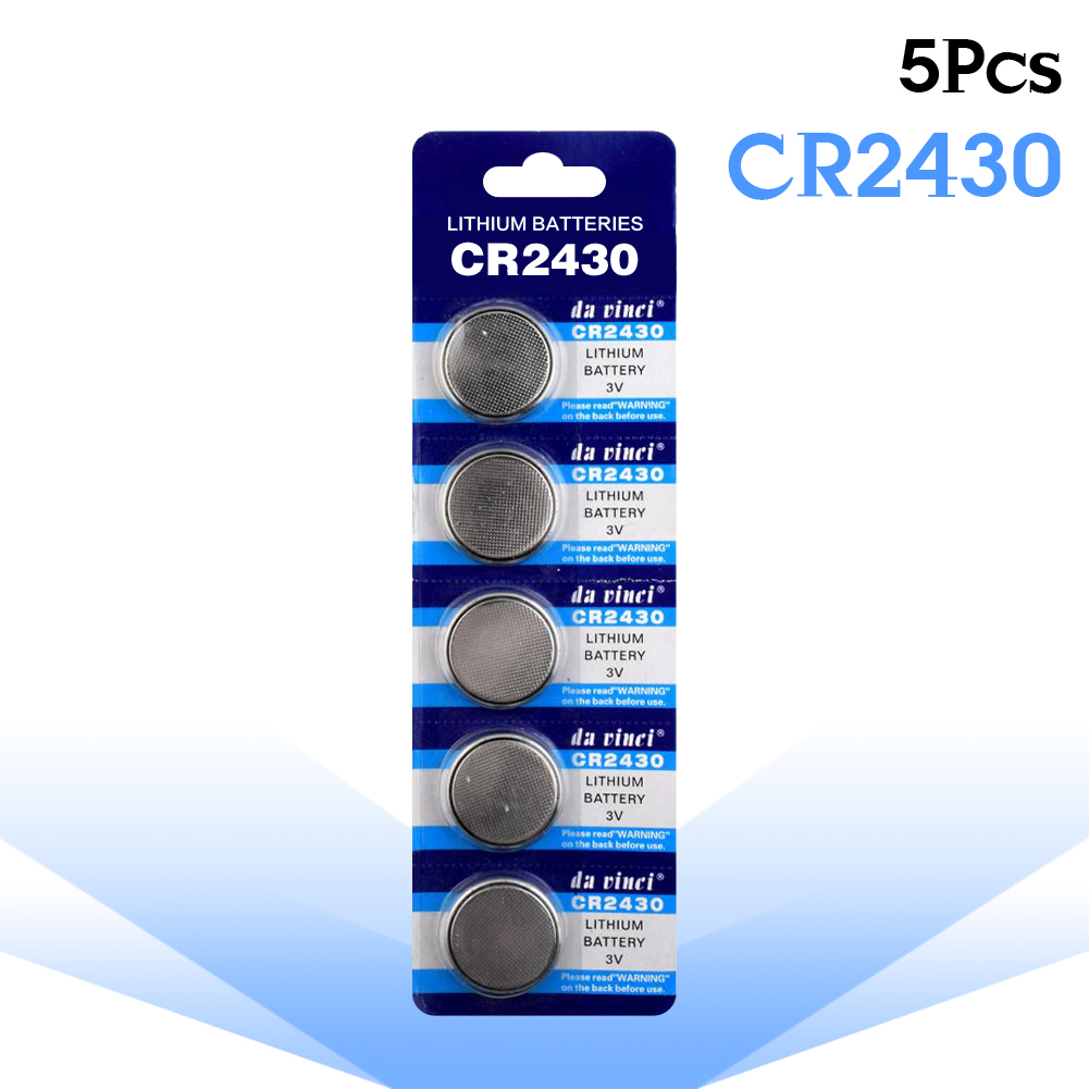 5шт./упак. CR2430 кнопочные батареи DL2430 BR2430 KL2430, монетная литиевая батарея 3 в CR 2430 для часов, электронных игрушек, контроллер