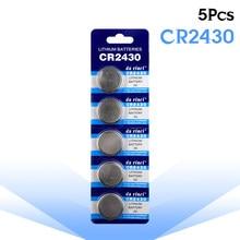 5 unidades/pacote CR2430 Baterias Botão Bateria De Lítio de Célula tipo Moeda KL2430 BR2430 DL2430 3V CR 2430 Para Brinquedos Relógio Eletrônico Controlador