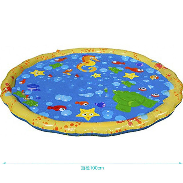 Piscina bebé salpicadura de agua estera de pulverización divertido jugar al agua piscina al aire libre juguete 4