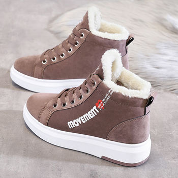 Winter Ankle Boots Women Warm Thick Plush Suede Snow Female Sneakers Fur Shoes Botines Mujer 2020 - discount item  71% OFF Women's Shoes