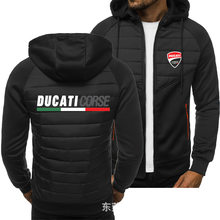 Novo masculino impresso ducati motocicleta logotipo jaqueta casual moda harajuku alta qualidade jaqueta marca hip-hop roupas masculinas