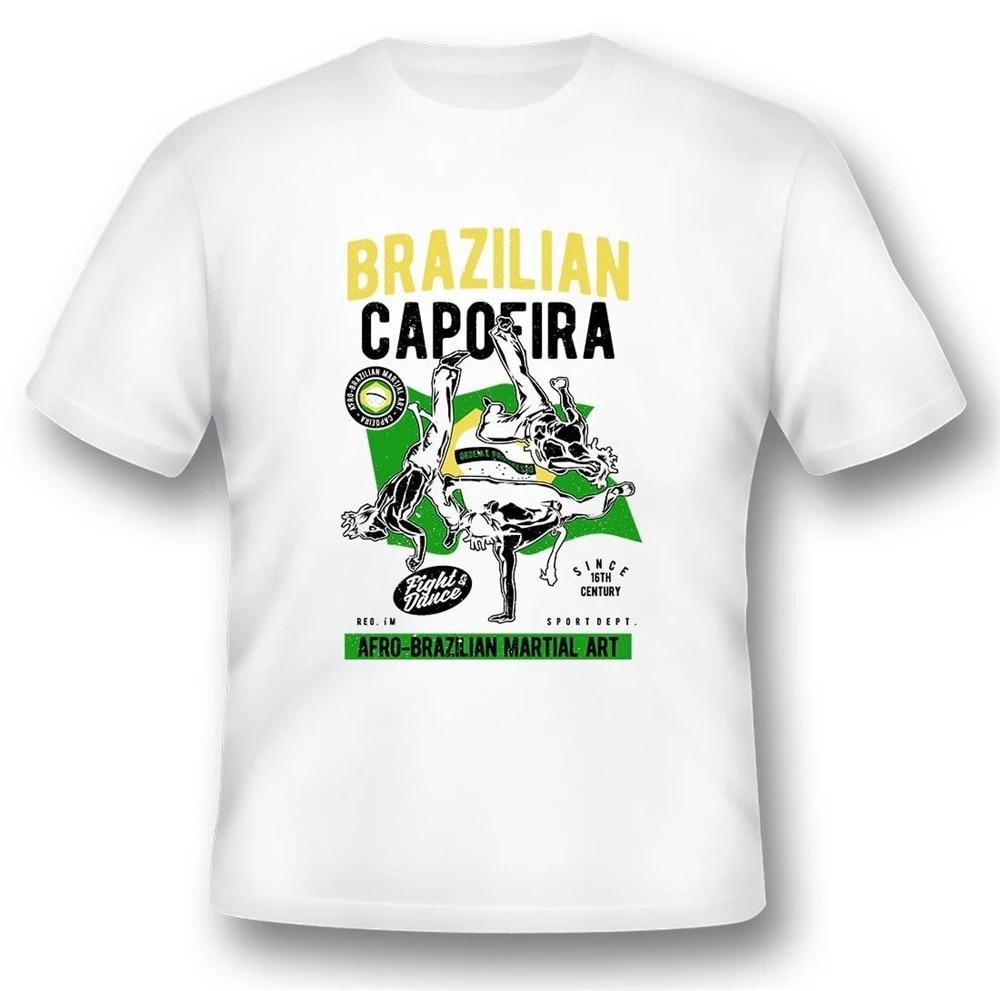 Jiu Jitsu T-Shirt Sport Brazilian Capoeira Afro-Brazilian Martial Art Mma A695