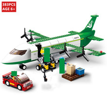 City Avion Technic Cargo Plane Airport Airbus Airplane Building Blocks Figures LegoINGLs Playmobil Bricks Toys Christmas Gifts