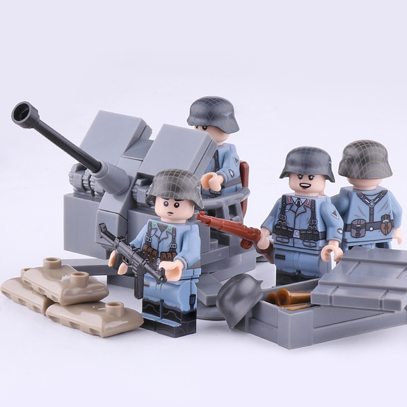 1154pcs Military Tiger Tank Building Blocks with WW2 Soldier Figures Toys Bricks