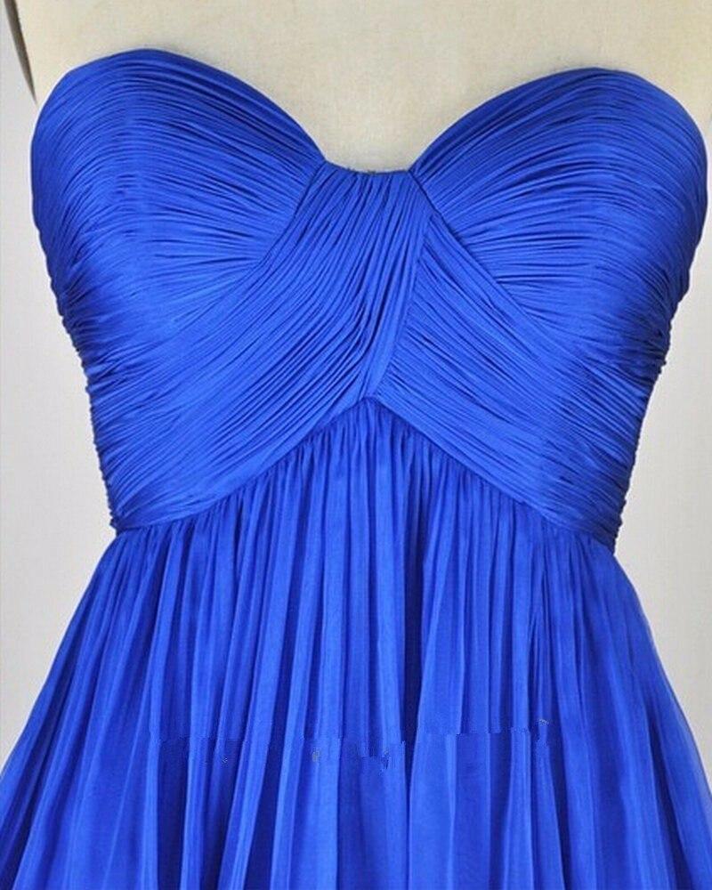 Royal bleu Empire robes de soirée de maternité chérie ruché Tulle célébrité robes de nuit formelles pour les femmes enceintes élégantes - 4