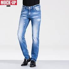 Mock Up Brand MDZ619 2019 New Fashion Denim Pants Dsq2 Hip Fit Jeans Men Casual Biker Hot Sell Blue Color Plus Size