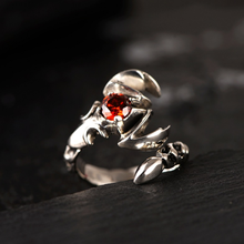 Винтажное мужское кольцо в виде короля скорпиона из серебра