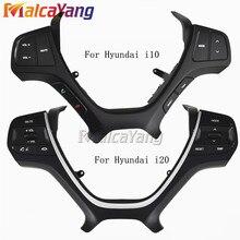 Araba styling düğmeler Hyundai i10 2014 2017 i20 2015 2018 çok fonksiyonlu araba direksiyon kontrolü düğmeler