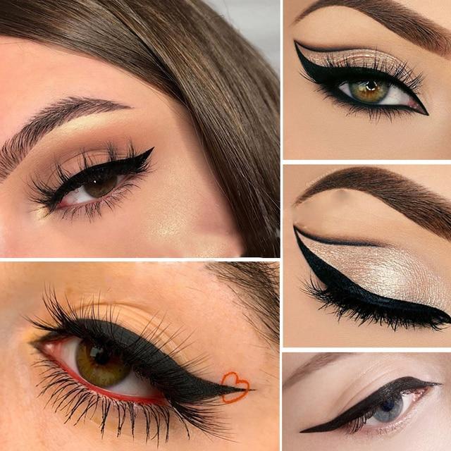 Liquid Eyeliner Pencil Double-headed Makeup Long Lasting Sexy Waterproof Quick Dry Eyeliner Pen Stamp Big Eye Cosmetics TSLM1 2