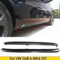 carbon fiber side skirt body apron kits for VW golf 6 MK6 GTI Car Sticker Spoiler 2010 2013