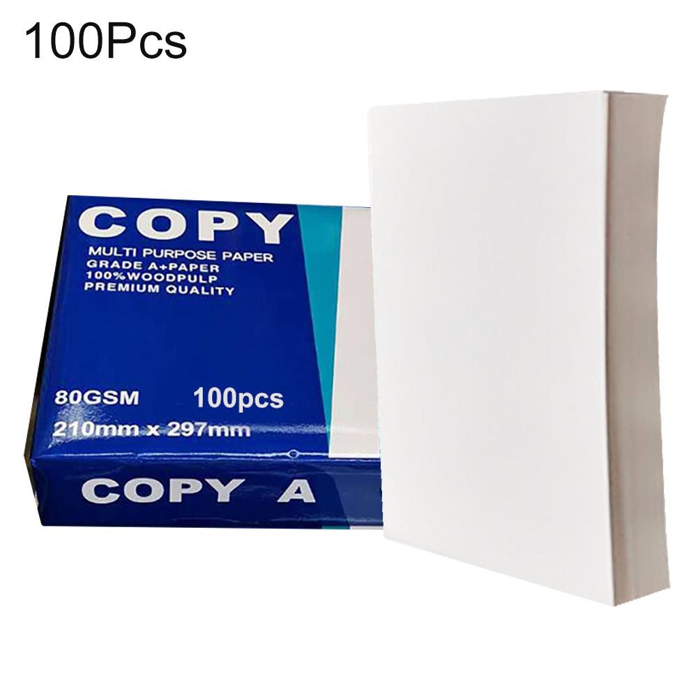 100Pcs A4 Papers Multifunction Copy Paper White Crafts Printer A4 Laser Inkjet Printer Copier A4 Copy Paper Office Supplies