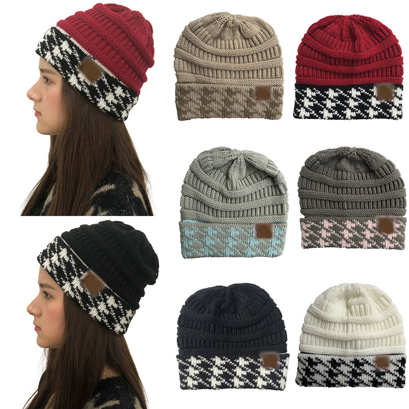 Autumn Winter Women Beanie CC Hat Knitted ​Hat Cap Female Knitted Hat For Girls Cap Soft Warm Ski Hat Ladies Skullies Bonn