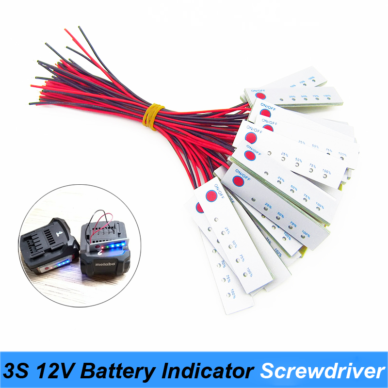 2S 3S 4S 5S 6S  8.4V 12.6V 16.8V 21V 24V 12V Lithium Battery Capacity Indicator For Screwdriver Battery Capacity Tester Display
