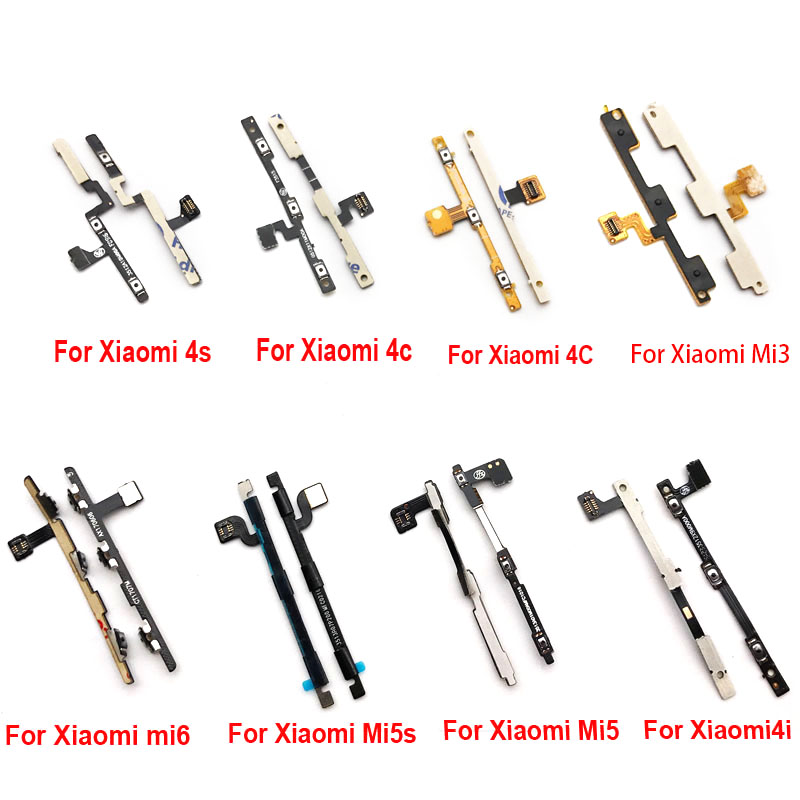 New Power On Off Volume Button Side Key Flex Ribbon For Xiaomi Mi3 M3 Mi4 Mi5 Mi5S Mi4i Mi4c Mi4s Mi6 Max Max2 Note Replacement