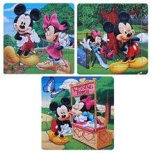 Quebra-cabeça infantil do mickey frozen, carro da disney, 3, princesa, mickey, aprendizagem precoce, quebra-cabeça infantil, aprendizagem precoce, brinquedo, presente