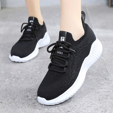 2019 Fashion Tennis Feminino Woman Lace-up Breathable Mesh Flat Sneakers Casual Shoes Calzado Mujer Sport Shoes Outdoor Gym