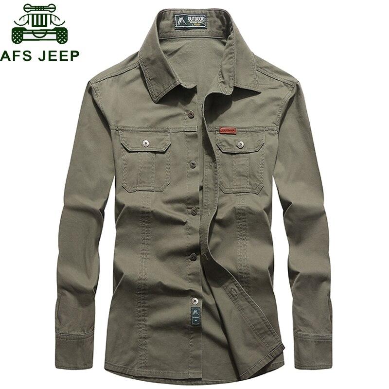 New 2020 Brand Army Military Shirt Men 100% Cotton Long Sleeve High Quality Mens Shirts Plus Size M-6XL Camisa Social Masculina