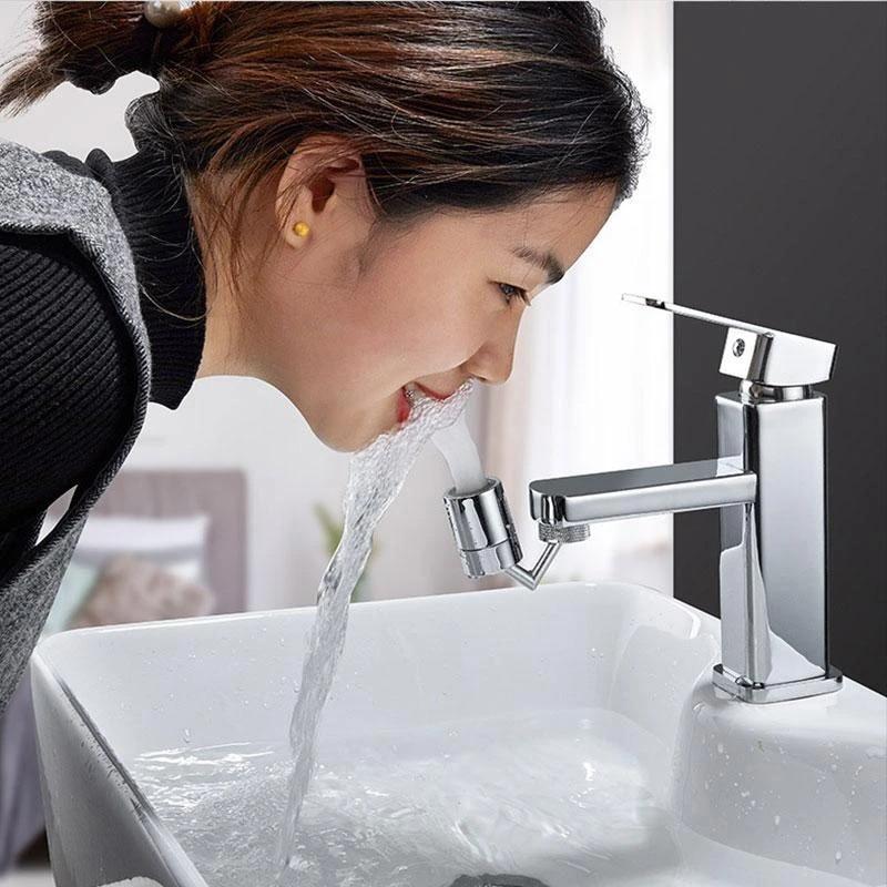 H06858fd7cbf44929b2cd9c672b69bbea3 360°/ 720°Rotatable Faucet Sprinkler Splash-Proof Faucet Shower Water-Saving Pressurized Faucet Kitchen Accessories для кухни