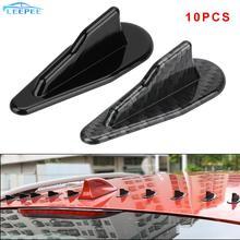 10PCS Universal ABS Roof Shark Fins Spoiler Wing Kit Car Wing Roof Spoiler Bumper Shark Fin Vortex Generator Shark Fin Diffuser