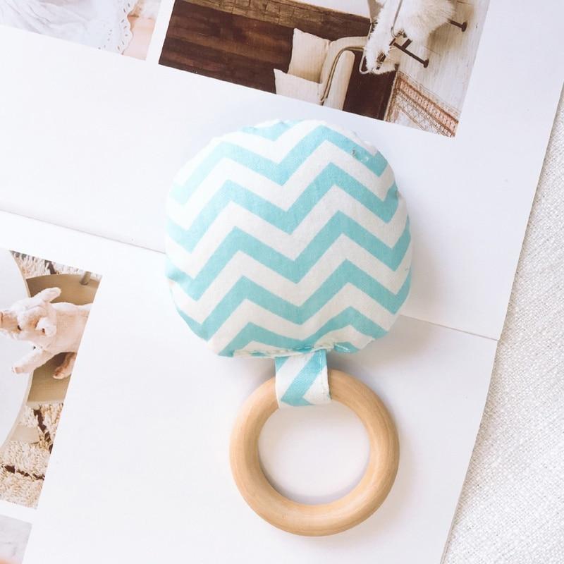 Новорожденный ребенок прорезыватель кольцо Жевательная Прорезыватель портативный ручной безопасная, из дерева натуральное кольцо детские зубы упражняющая игрушка подарок